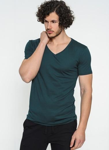 Clarious V Yaka Tişört Yeşil